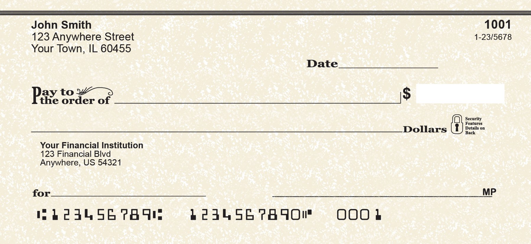 Parchment Personal Checks (2 Boxes of Singles)