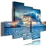 quadro moderno oceano multilivello 3d quadri moderni mare sole tramonto