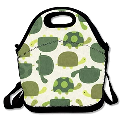 a2eca4856b Image Unavailable. Image not available for. Color: Watercolor Turtles Lunch  Bags Insulated Travel Picnic Lunchbox Tote Handbag With Shoulder Strap For  Women ...
