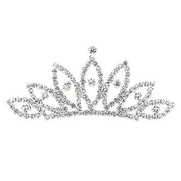 Girls Diamond Crowns Tiaras Exquisite Children Gift Princess Accessories Elegant