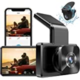 "AUTOWOEL Dash Cam Built in WiFi GPS, FHD 1080P Dash Cam Front and Rear Camera with 3"" IPS Screen, 310°Dual Dash Cam, WDR, HDR"