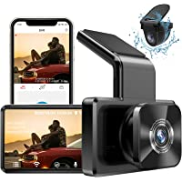 """AUTOWOEL Dual Dash Cam with WiFi GPS, Front and Rear Car Camera with 3"""" IPS Screen DVR, Dashboard Camera Full HD 1080P…"""