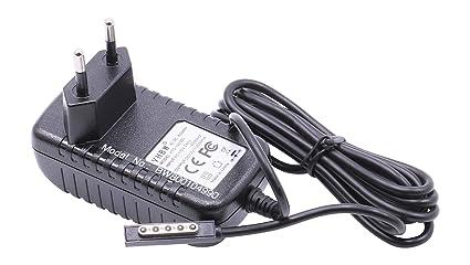 Cargador vhbw 220V 24W (12V/2A) para portátiles, Pad, Tablet ...
