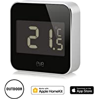 Eve Degree - Weather station with Apple HomeKit technology for tracking temperature, humidity & air pressure, LCD display, Bluetooth Low Energy