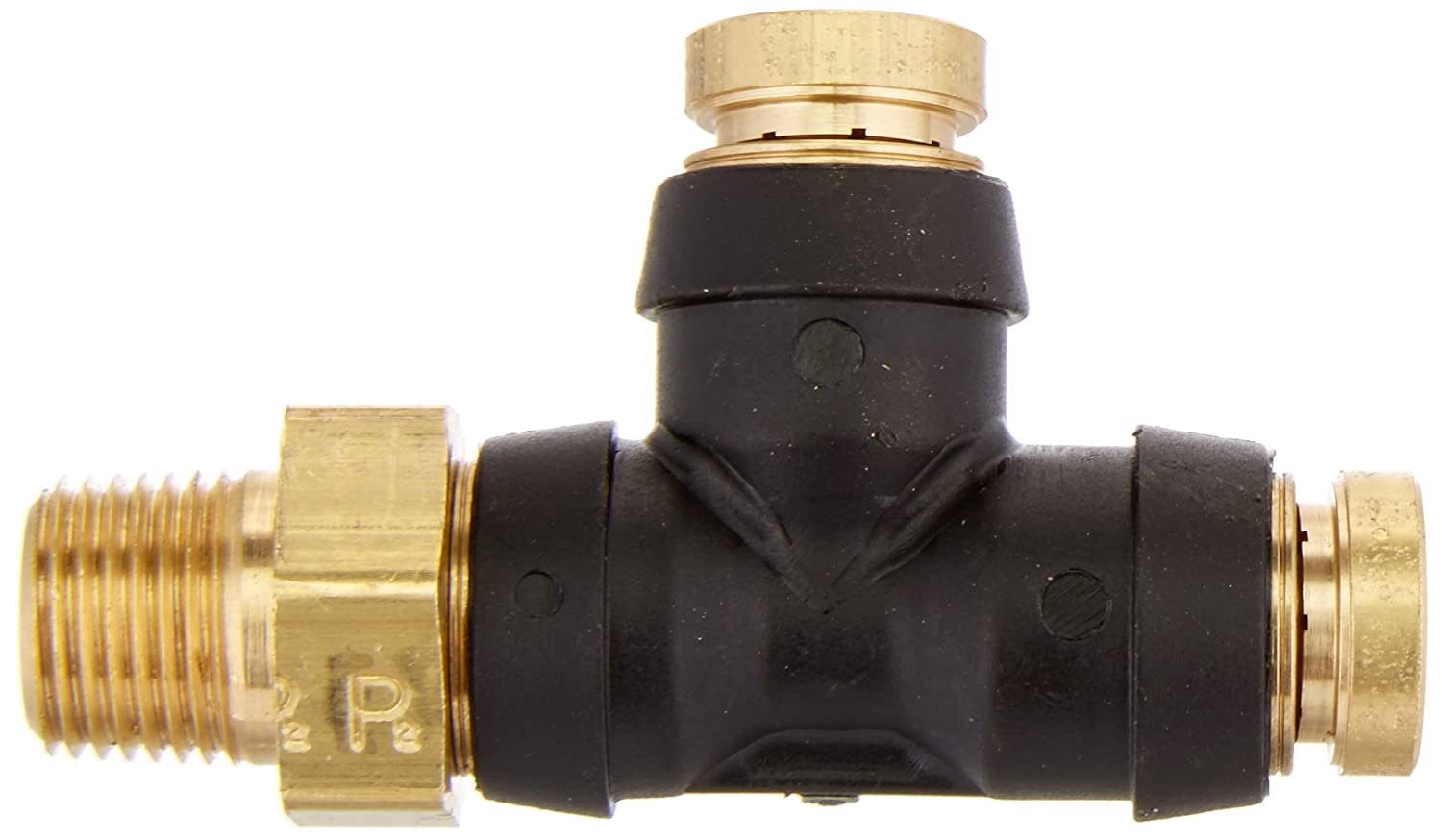 Parker 371PTC-4-2-pk20 Air Brake D.O.T Pack of 20 Tube to Pipe Composite Push-to-Connect Fitting 1//4 and 1//8 Push-to-Connect and Male Pipe Run Tee Pack of 20 PTC 1//4 and 1//8