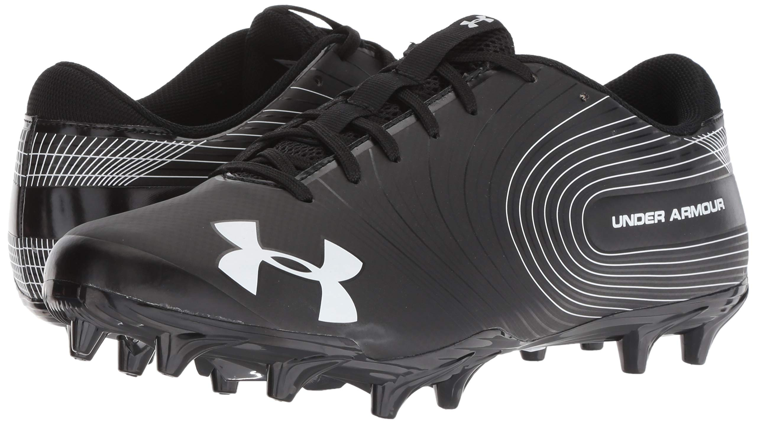Under Armour Men's Speed Phantom MC Football Shoe Black (001)/White 6.5 by Under Armour (Image #6)