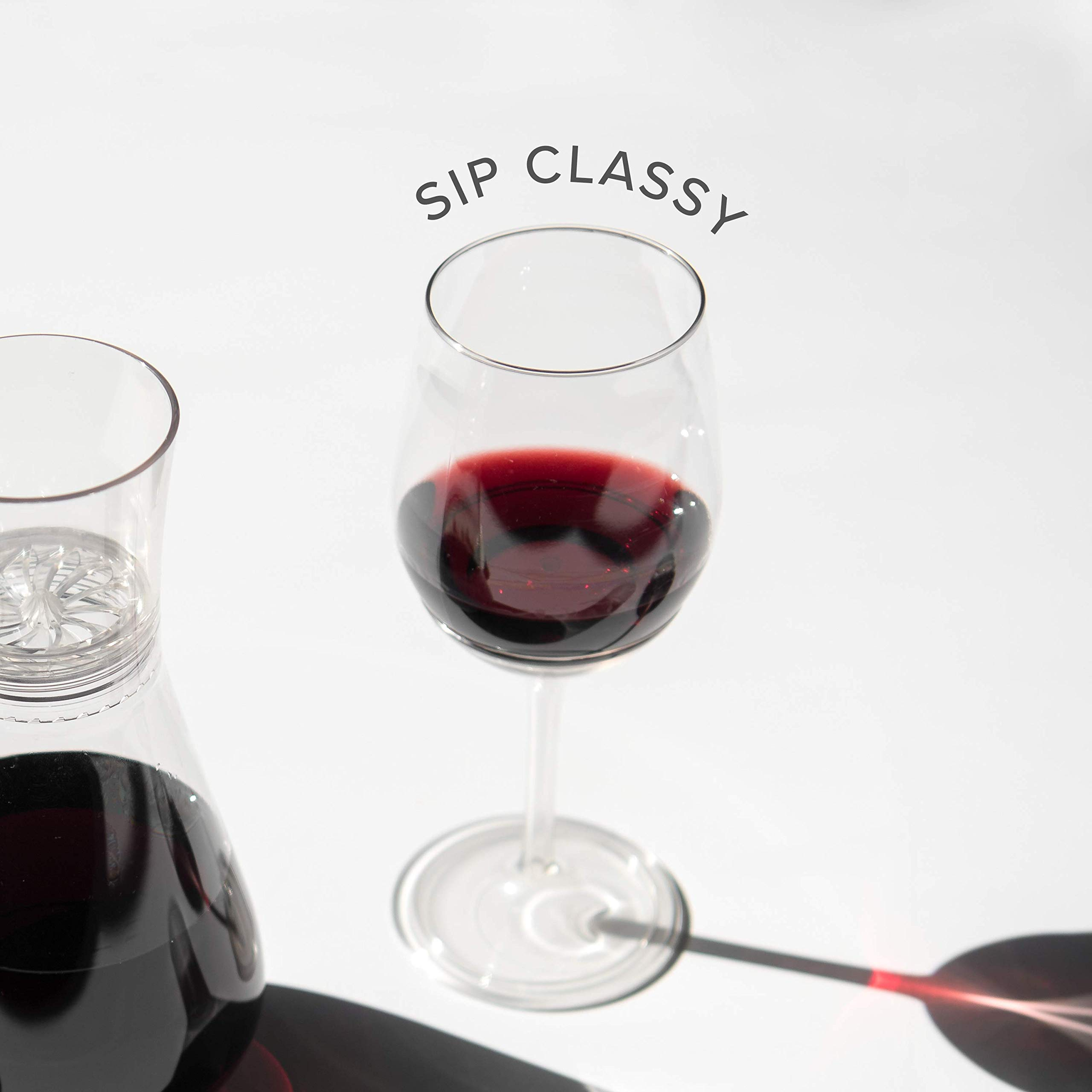 TOSSWARE 14oz Stemmed Vino- recyclable wine plastic cup -SET OF 12- detachable stem, shatterproof, and BPA-free wine glasses by TOSSWARE (Image #7)