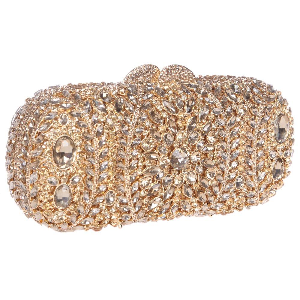 Amazon.com  Fawziya Diamond Clutch Purse Luxury Crystal Clutch Evening Bag-Smoky  Yellow  Shoes a618f2313bbf7