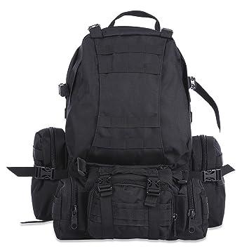 50L Bolsa mochila de senderismo al aire libre militar táctico Molle Bolso Mochila Mochilas Camping bolsas de deporte impermeable de camuflaje, ...