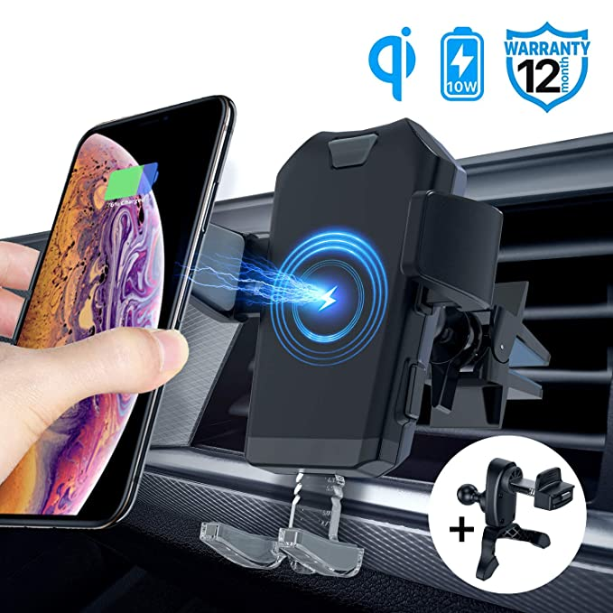 Accessories Line Charging Function Bluetooth Speaker,10W QI Gravity Car Mount Air Vent Phone Holder,Fast Charge Compatible for Samsung Galaxy