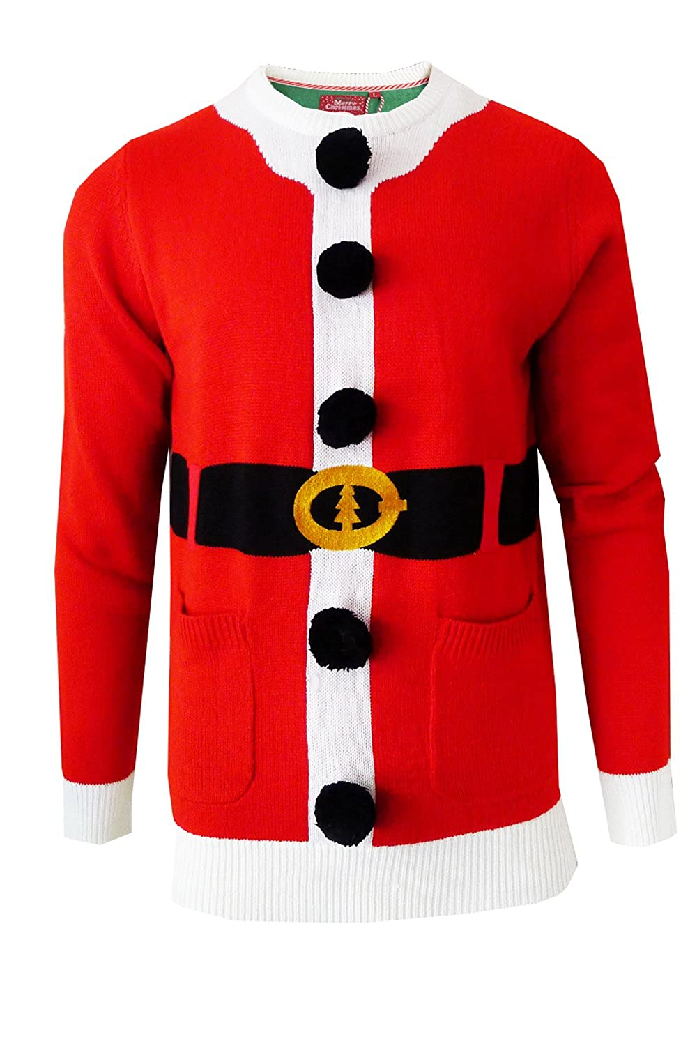 Brave Soul Bailey Santa Elf Knit Jumper Christmas Sweater