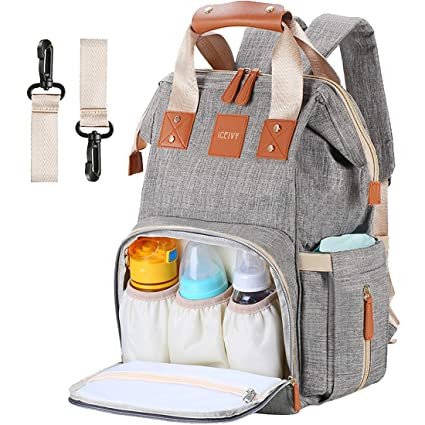 669b65f73aeeb Baby Changing Bag,Rucksack Changing Bag,Baby Bag,Nappy Bag,  Multi-Function,Waterproof,Large Diaper Bag Backpack with Insulated Pocket  for Mum&Dad,Grey