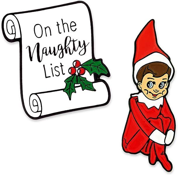 Amazon com: PinMart Naughty Elf Funny Christmas Stocking