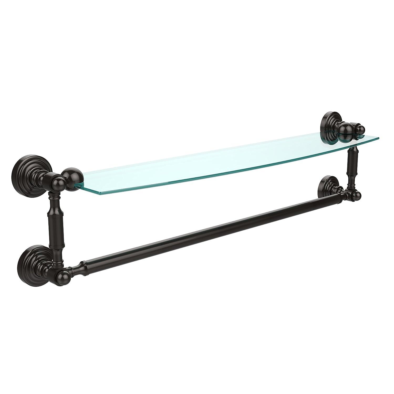 Allied Brass WP-33TB/24-SBR Glass Shelf with Towel Bar, 60cm x 13cm, Polished Brass B002CQEKE2 オイルステイン仕上げブロンズ,24 Inch