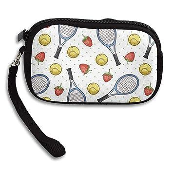 Amazon.com: Monedero monedero de tenis y fresas con ...