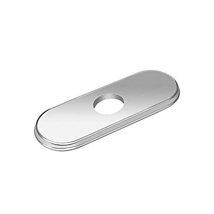 Charmant LOUYC Sink Faucet Escutcheon For Bathroom Kitchen Faucet Hole Cover Deck  Plate 6 Inches (Brushed