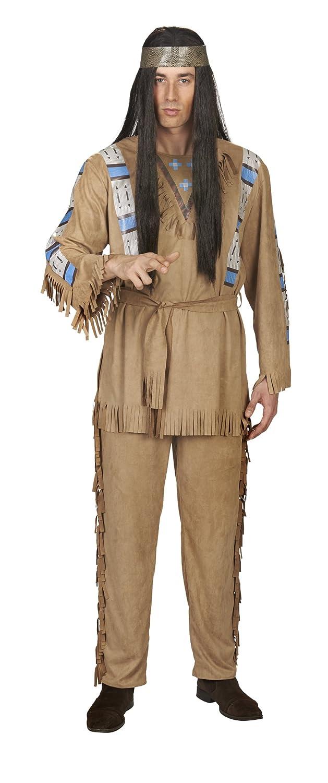 Andrea Moden Bullyparade traje de los hombres traje indio para el carnaval y fiesta de color marrón