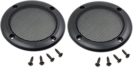 Ninth-City 2PCS 3.5 Speaker Grills Cover Guard Protector Mesh