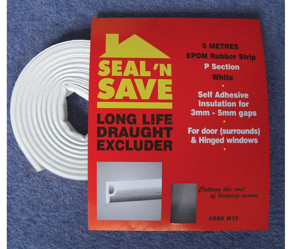 Stormguard Seal N Save EPDM 'P' Section - 5m White