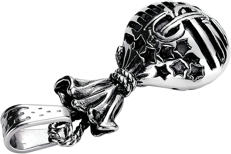 LOPEZ KENT Stainless Steel Necklace Men Black Necklace Pendant Star Silver Necklace Pendant Vintage Pattern