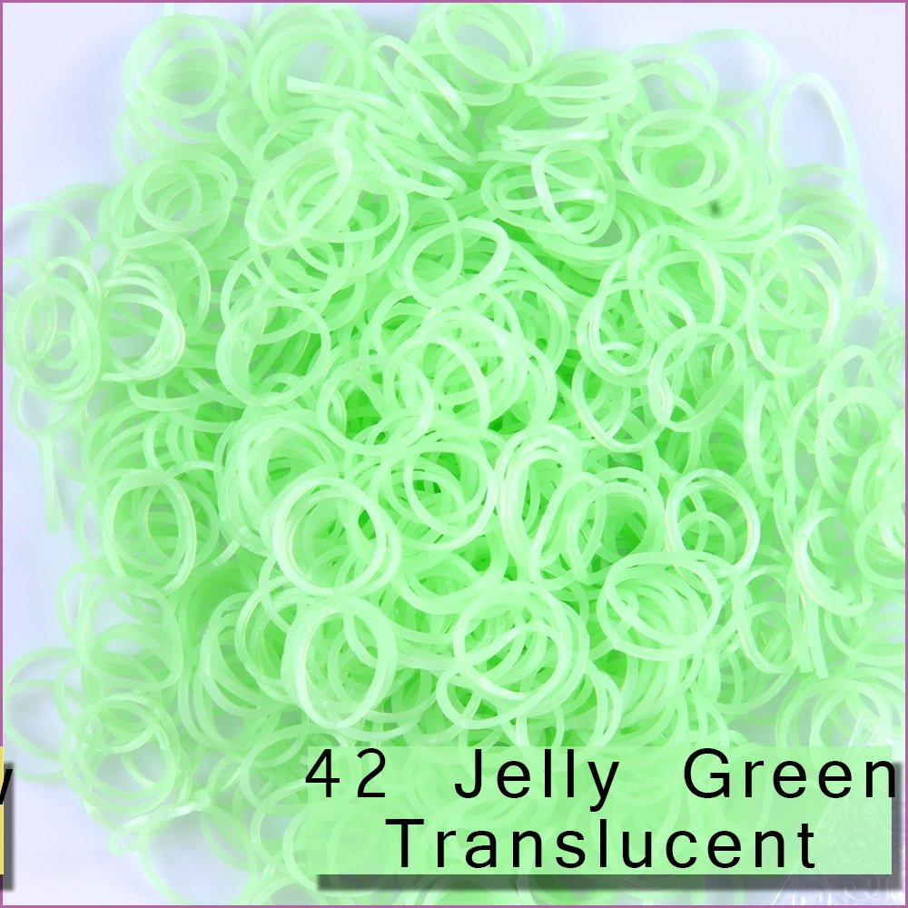 TM 49 MIxed SKin Tones Kirinstores 600 PCS 24 Clips Bands Refills for Loom Rainbow Bracelet Dress Making