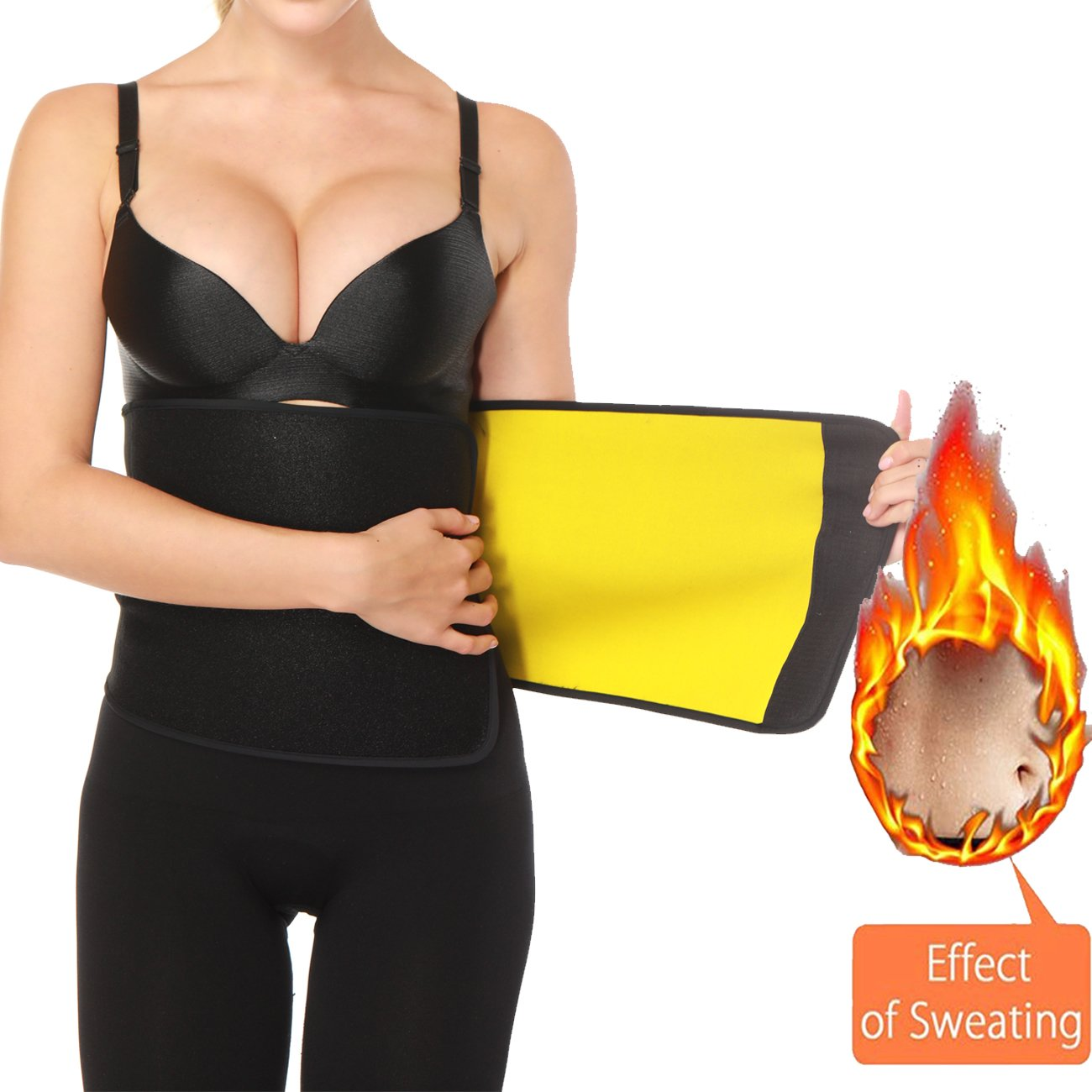 SEXYWG Women Waist Trainer Trimmer Sweat Hot Shapers Cincher Slimming Sauna Belt WSC039-CA