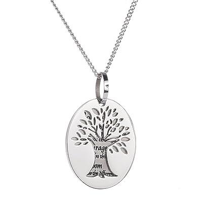 Amazon high polished stainless steel tree of life pendant amazon high polished stainless steel tree of life pendant serenity prayer necklace jewelry aloadofball Images