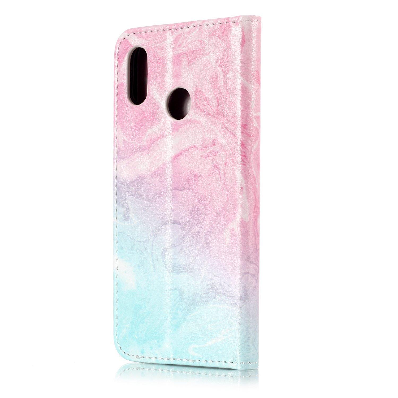Ukayfe Custodia Compatibile con Huawei P20 Lite,Custodia in Pelle a Libro Flip Case Portafoglio Marmo Modello con Funzione Supporto Chiusura Magnetica PU Leather Flip Cover Protettiva Case-Marmo#4