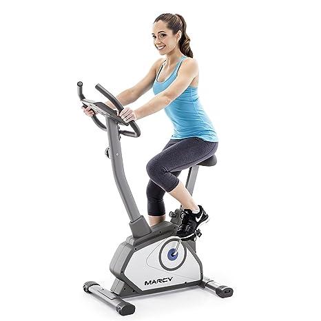 Marcy Bicicleta vertical magnética, Unisex adulto, NS-40504U, gris ...