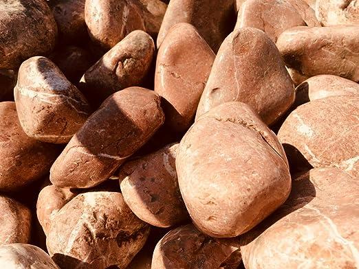 Velestone 50 Sacos 20 kg. Cantos rodados Jardin (40-60, Rojo): Amazon.es: Jardín