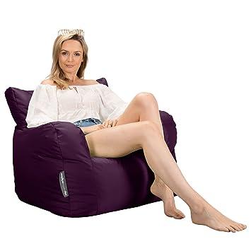 Black Small Indoor /& Outdoor Bean Bag Footstool Big Bertha Original
