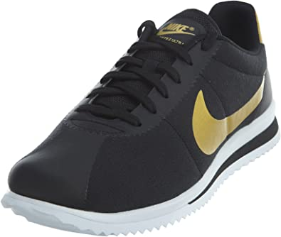 Amazon.com: Nike Cortez – Ultra QS Negro/metálico Gold-Black ...