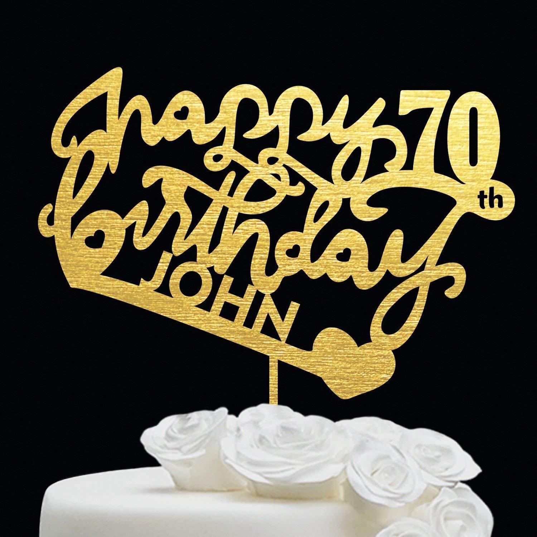 Fabulous Amazon Com 70 Birthday Cake Topper Customize Cake Topper Personalised Birthday Cards Petedlily Jamesorg