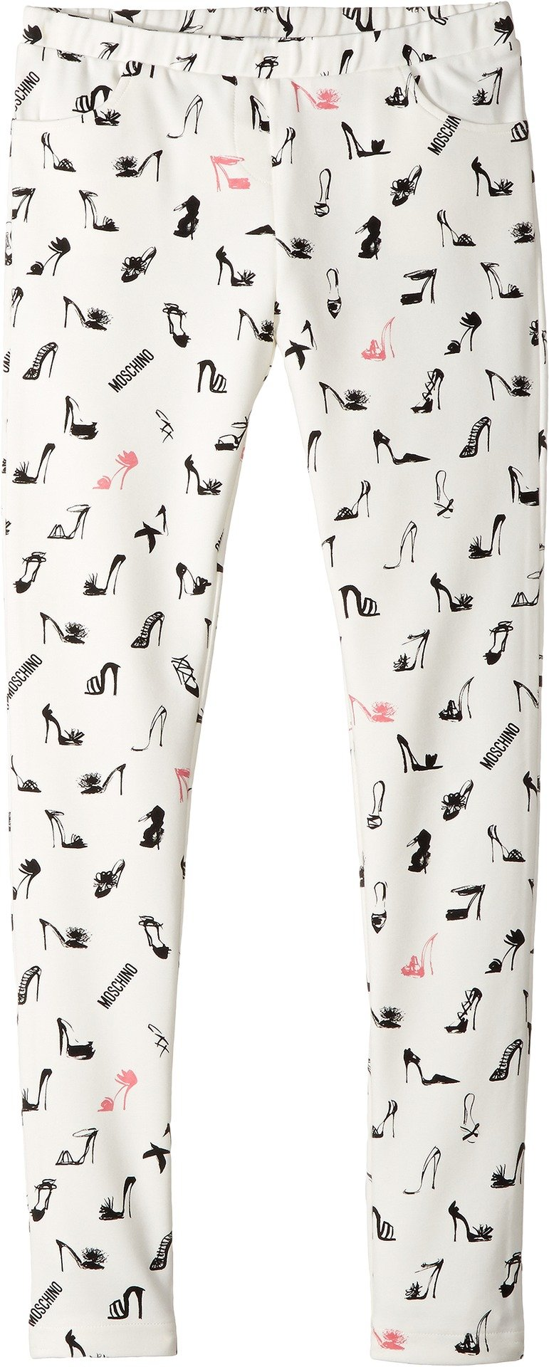 Moschino Kids Girl's All Over High Heel Print Pants (Big Kids) White/Multi 10 Big Kids
