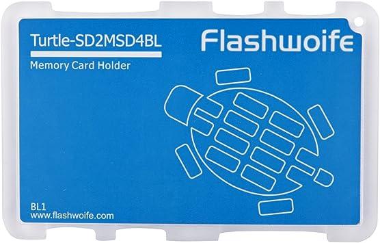 Caja de la tarjeta de memoria Flashwoife tortuga SD2MSD4BL de ...