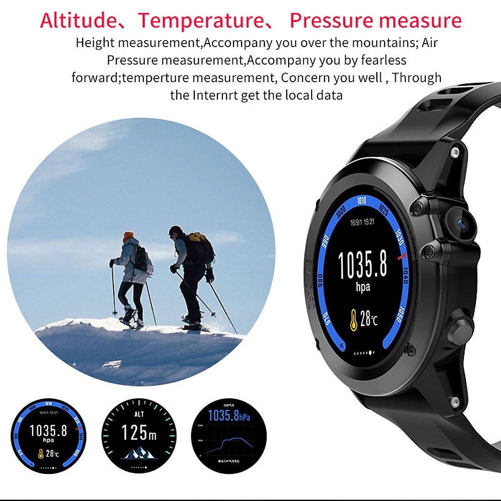Docooler H1 JM01 Smartwatch Teléfono con Reloj 3G WCDMA Cámara de 5MP Wifi BT3.0 + 4.0 Impermeable GPS Frecuencia cardíaca del podómetro Monitor de sueño ...