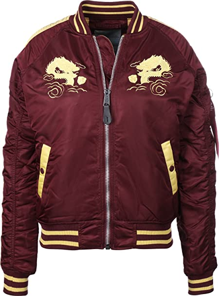 Alpha Industries Ladies Jacket Japan Dragon Wmn: Amazon.co