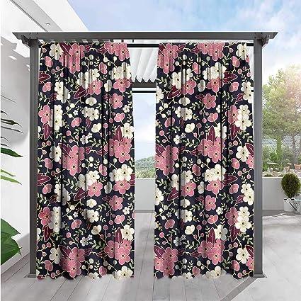 Amazon.com  Marilds Japanese Doorway Curtain Night Garden