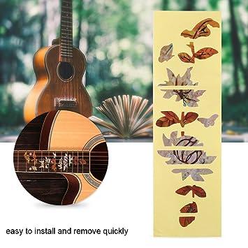 Inlay Stickers Markers, Butterfly Pattern Pegatinas de Guitarra para Guitarra Acústica/Eléctrica Fretboard Decor: Amazon.es: Deportes y aire libre