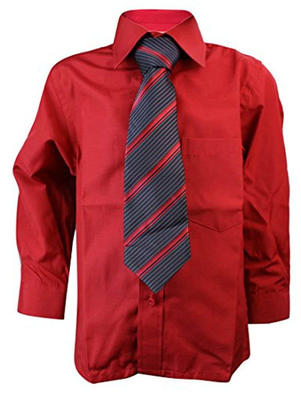 Sevello Clothing Kids Boys Matching Shirt /& Slim Tie Formal Smart 6 Months 16 Years