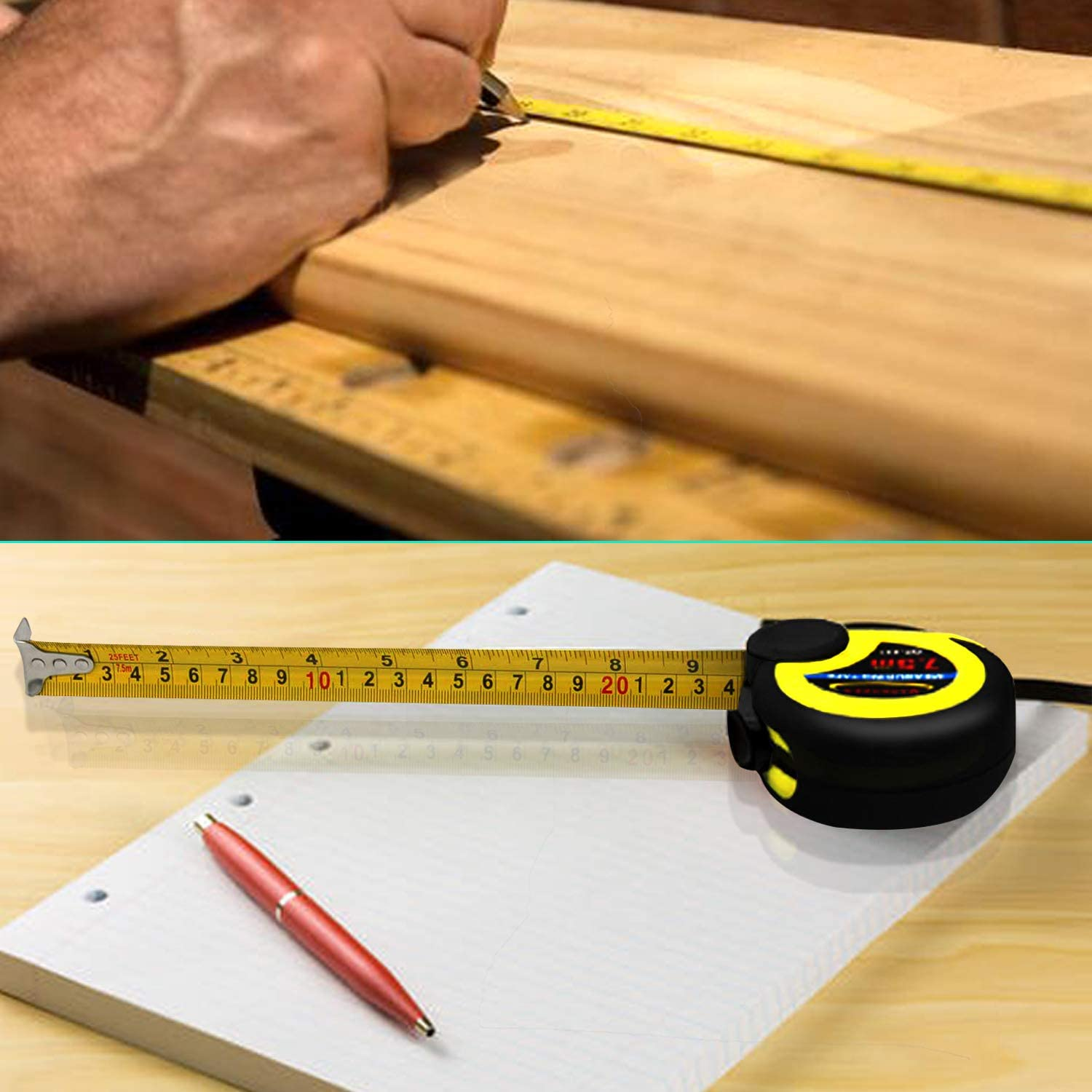 2 Pack Tape Measures for Body Sewing Tailor Cloth MARKKEER Tape Measure 25 Ft Thumb Lock Slider /& Retractable Sturdy Heavy Duty Measuring Tape 60