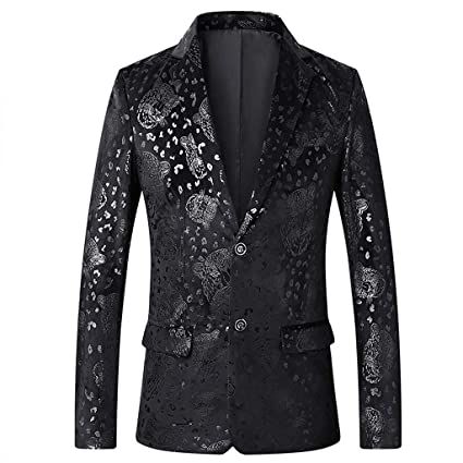 Amazon.com: Juesi Blazer para hombre, traje de lujo con ...