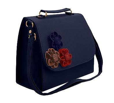 1d40d4315e Jimmy Choo Women's PU Handbag (Dark Blue): Amazon.in: Shoes & Handbags