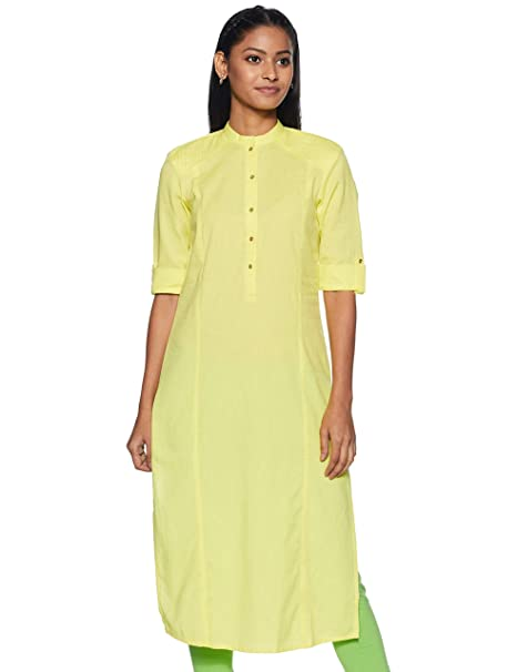 W for Woman Straight Kurta Women's Kurtas & Kurtis at amazon