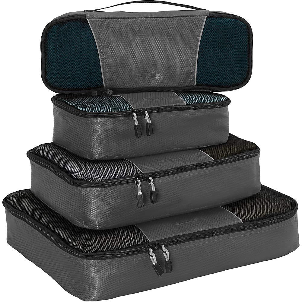 eBags Packing Cubes for Travel - 4pc Classic Plus Set - (Titanium)
