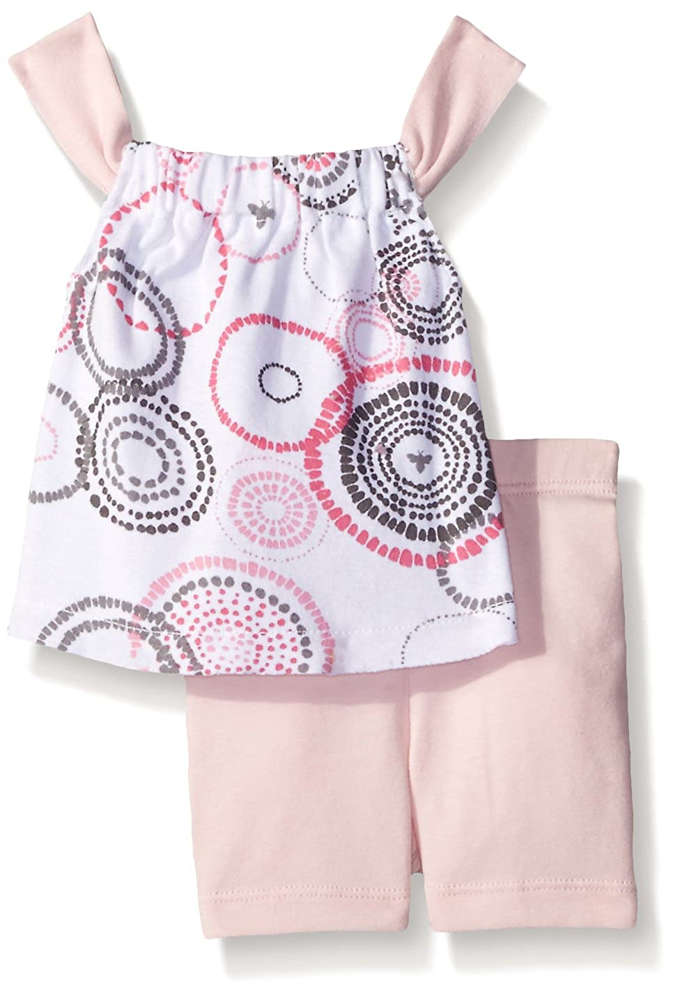 100/% Organic Cotton Burts Bees Baby Baby Girls Tee and Shorts Set Top and Bottoms Outfit