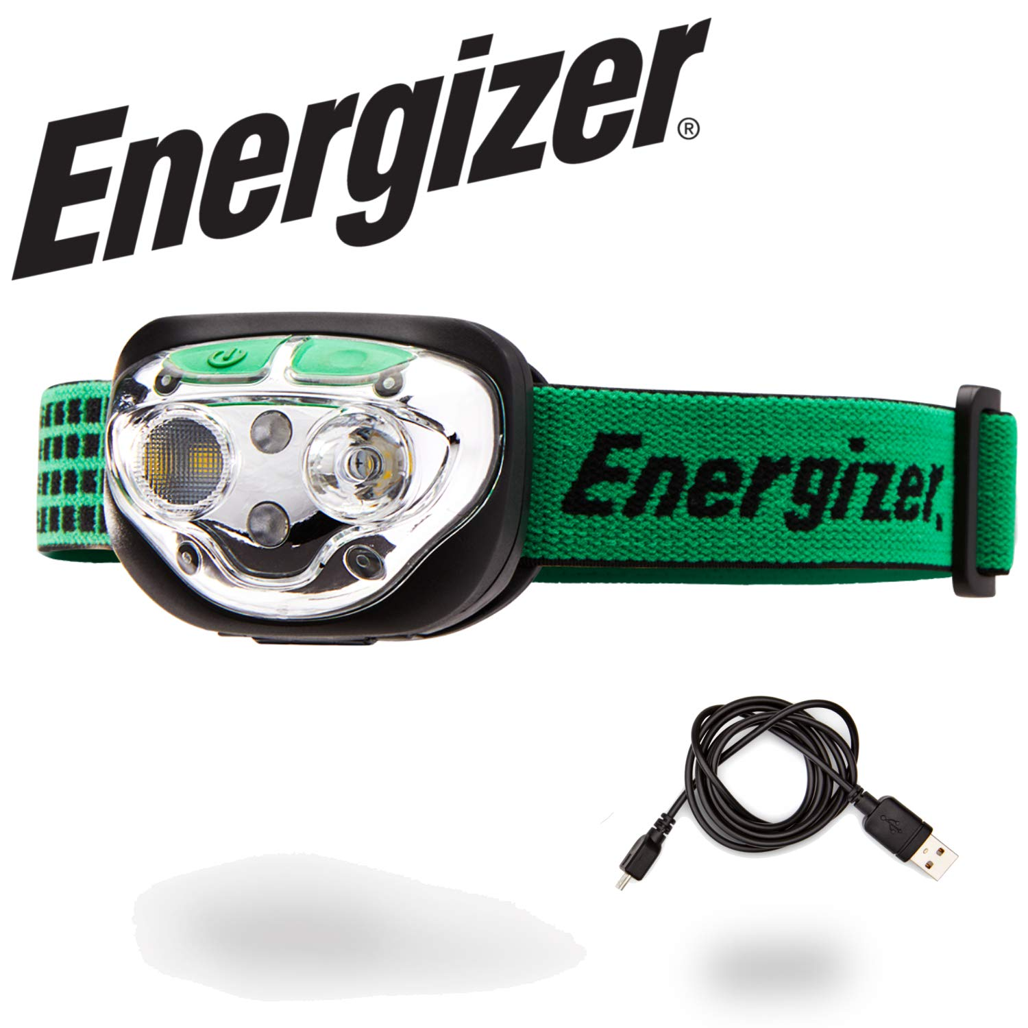 Energizer LED Headlamp Flashlight, High Lumens, for Camping, Running, Hiking, Sports, Outdoor Head Lamp, Rechargeable Headlamp Option, Water-Resistant Headlight by Energizer
