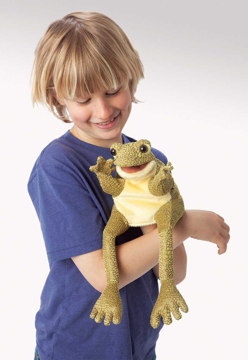 frog hand puppet for kids