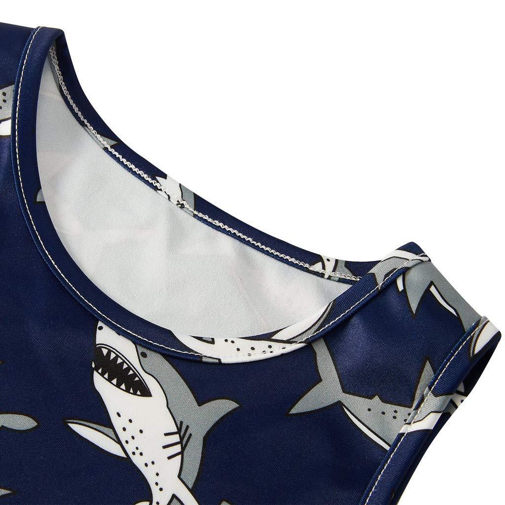 Hstore❀Youth Teen Kids Girl Sleeveless Dress Party Sundress Clothes Long Skirt Dark Blue