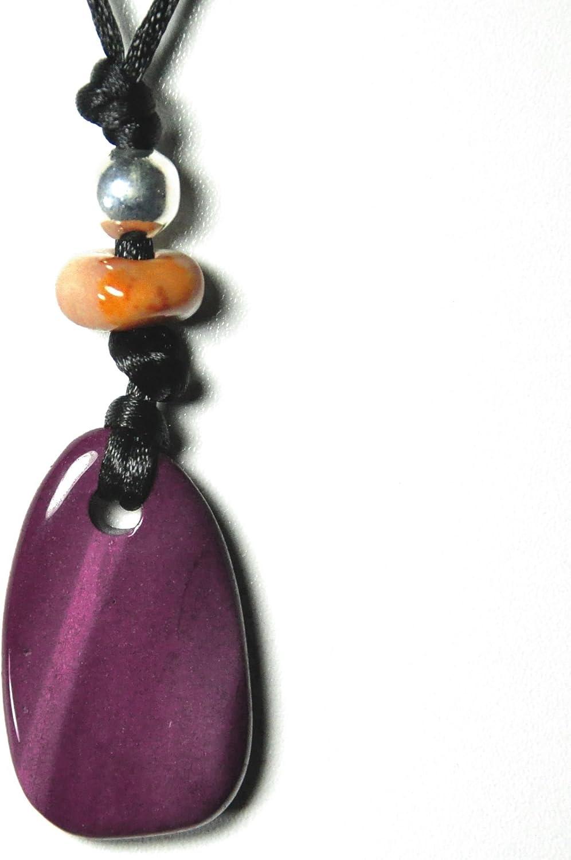 Mookaite - Cadena - colgante con forma de cinta de tela - joyas de piedras preciosas, objeto de piedra de la suerte